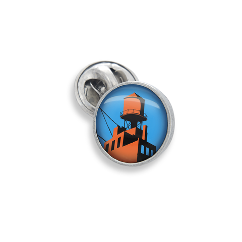Lapel Pin In 13mm Featuring Iconic Brooklyn Water Tower From The Futurama New York Collection