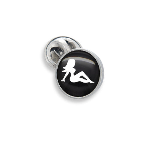 Lapel Pin In 13mm Featuring Classic Mudflap Girl Artwork