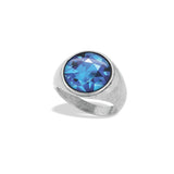 Signet Ring Featuring The Illustrated Topaz November Birthstone from the Winky&Dutch Astrology Collection