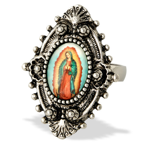 Our Lady of Guadalupe Filigree Ring- Handcrafted USA