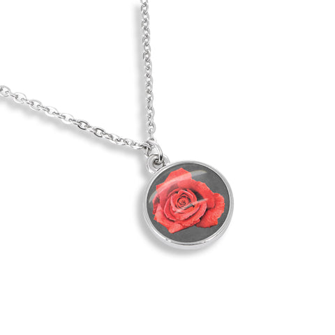 Vintage Style Red Rose Necklace | Handcrafted USA