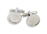 Custom 18mm Cufflink Set in Silver-tone Featuring Artwork Selected by You From the Winky&Dutch Artwork Archives