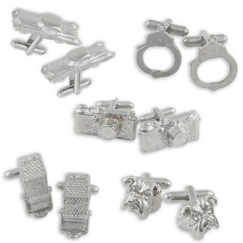Winky&Dutch Original Vintage - 5 Pair Set Vintage Cufflinks
