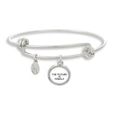 Female Empowerment The Future is Female Bangle Bracelet | Handcrafted USA