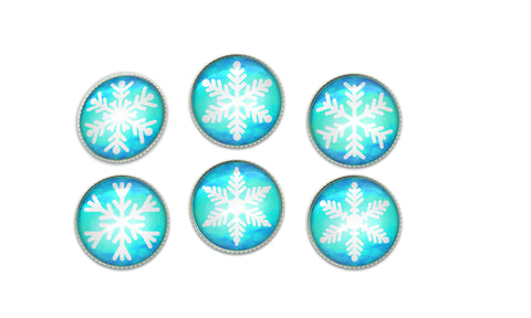 Christmas Snowflake Button Set | Handcrafted USA