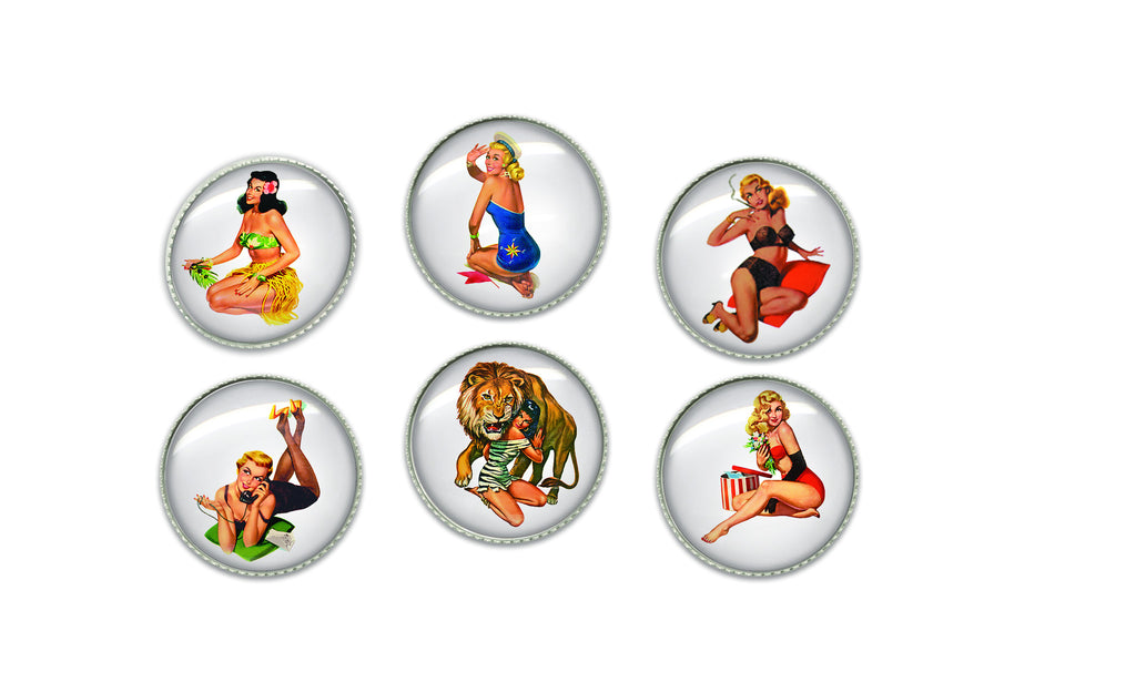 Vintage PinUp Buttons | Handcrafted USA