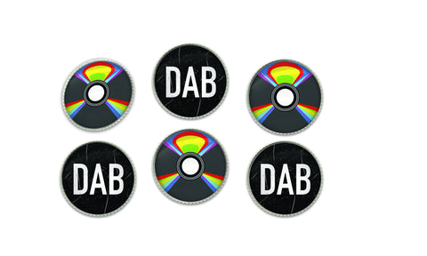 Vintage CD Music and Dab Buttons | Handcrafted USA