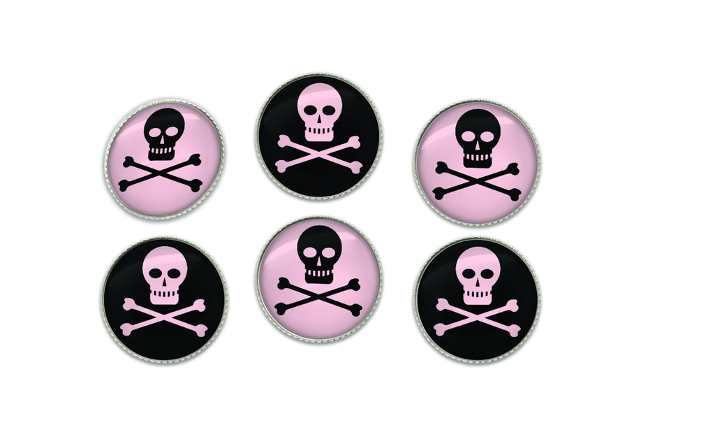 Skull and Crossbones Buttons | Handcrafted USA