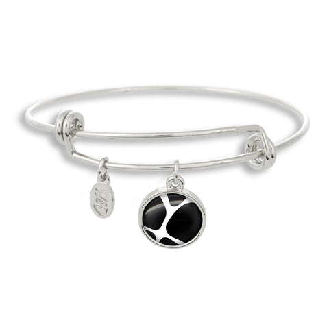 Zoolander Black&White Giraffe Adjustable Bangle Bracelet