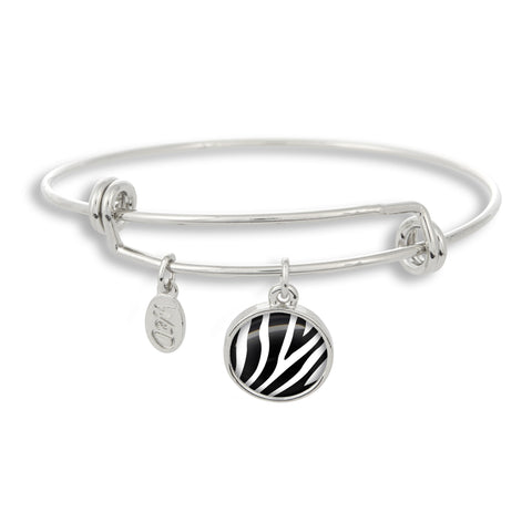 Zoolander Black&White Zebra Adjustable Bangle Bracelet