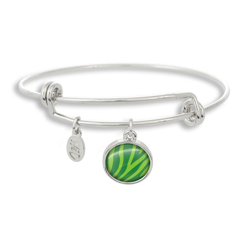 Zoolander Green Zebra Adjustable Bangle Bracelet