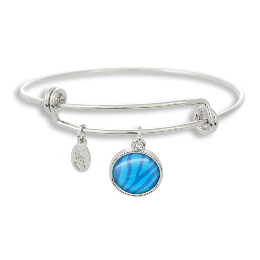 Zoolander Blue Zebra Adjustable Bangle Bracelet