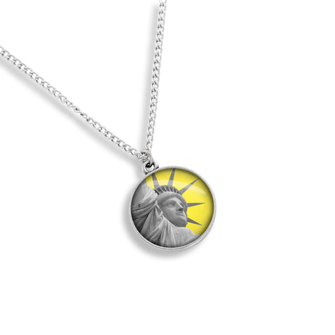 Yellow Belly NYC Medallion Necklace