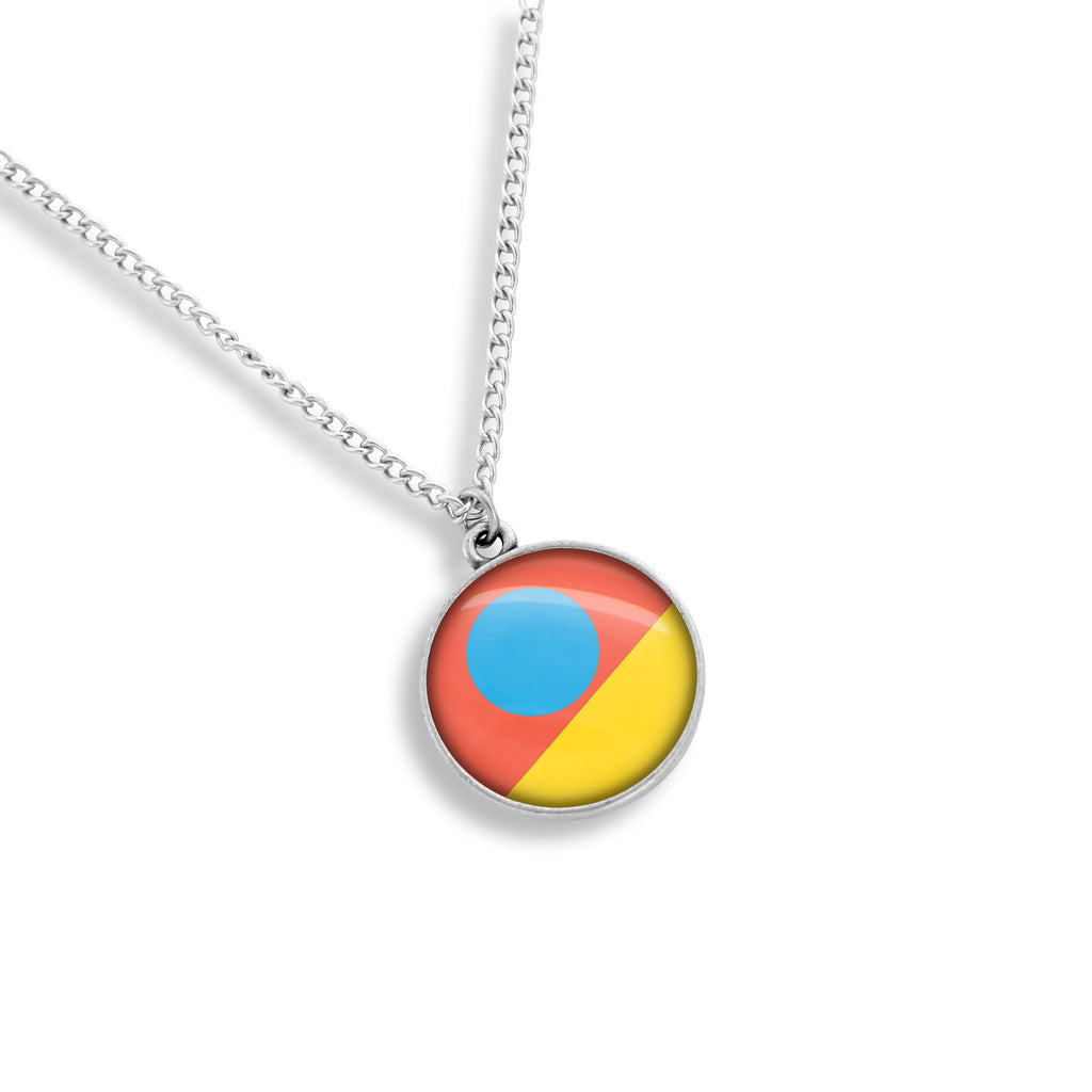 In Living Color Medallion Necklace