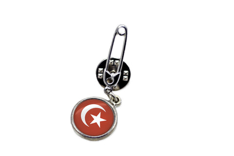 Symbol of Islam Safety Pin Brooch | Handcrafted USA