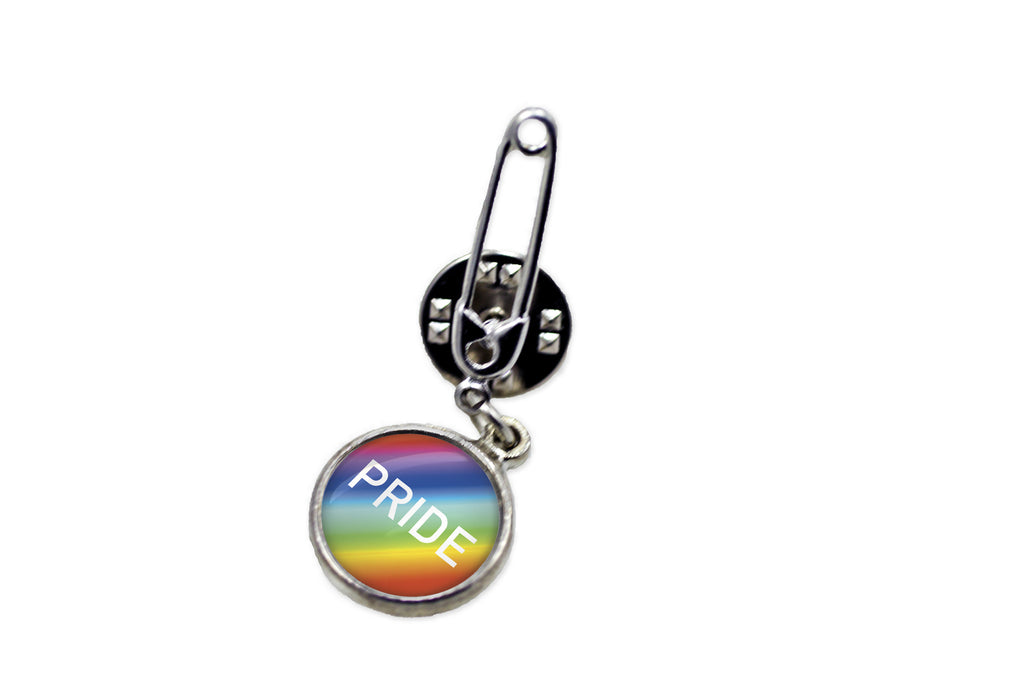 Rainbow Pride Flag Safety Pin Brooch | Handcrafted USA
