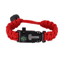 Load image into Gallery viewer, Adjustable Survival Paracord Bracelet