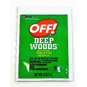 OFF!® DEEP WOODS® Insect Repellent Towelettes (unscented)