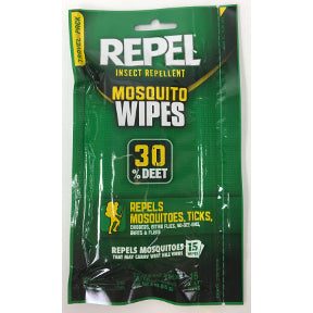 Repel Insect Repellent Mosquito Wipes (15 count)