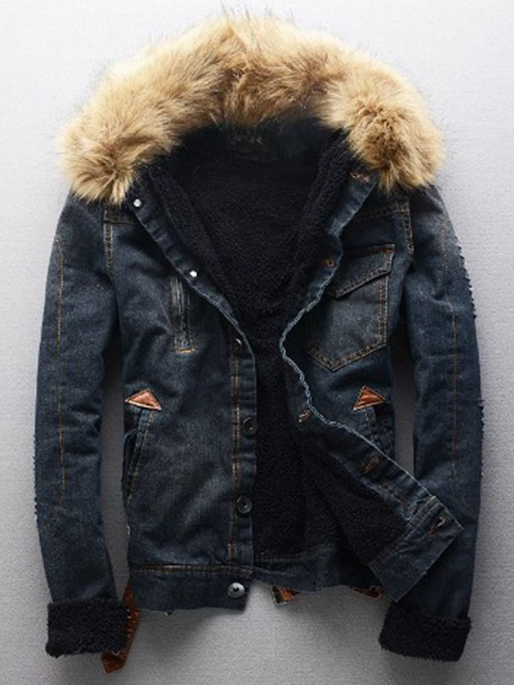Thick Plain Hole European Winter Jacket
