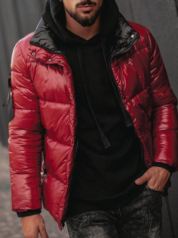 Standard Plain Single-Breasted Casual Down Jacket