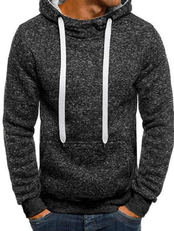 Lace-Up Plain Pullover Straight Fall Hoodies