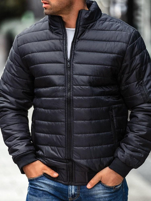 Standard Stand Collar Zipper Casual Zipper Down Jacket