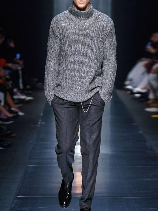 Plain Turtleneck Mid-Length Casual Spring Sweater