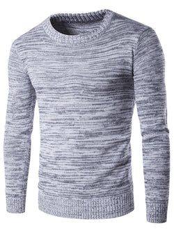 Round Neck Plain Standard Fall England Sweater