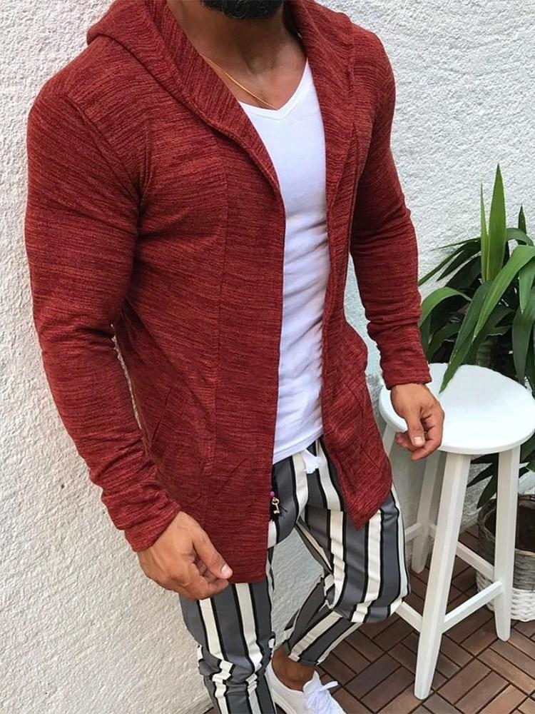 Regular Cardigan Pocket Fall Casual Hoodies
