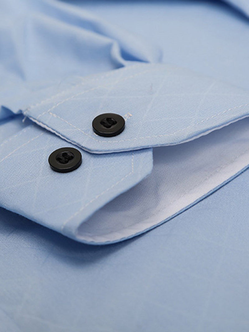Plain Lapel Single-Breasted Spring Shirt