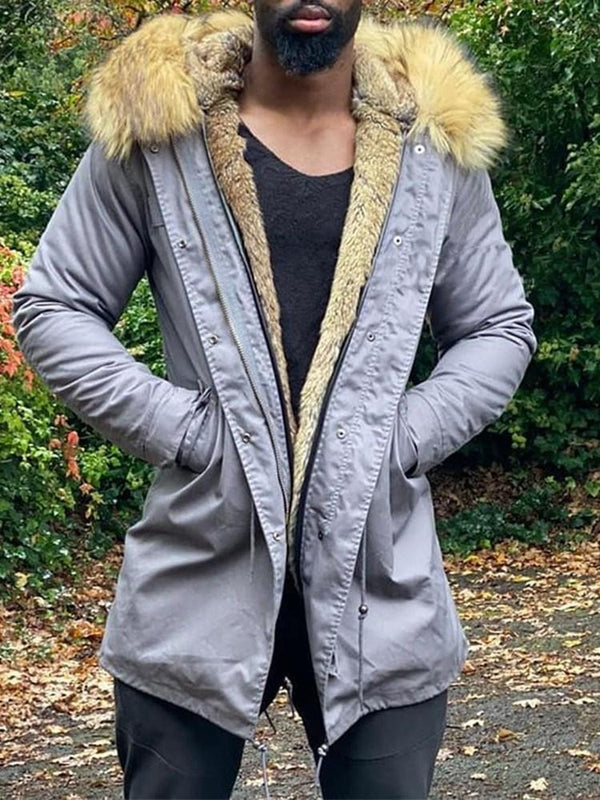 Pocket Mid-Length Casual Down Jacket