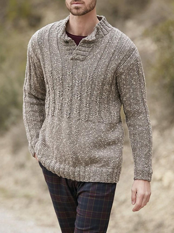 Standard Stand Collar Slim Casual Sweater