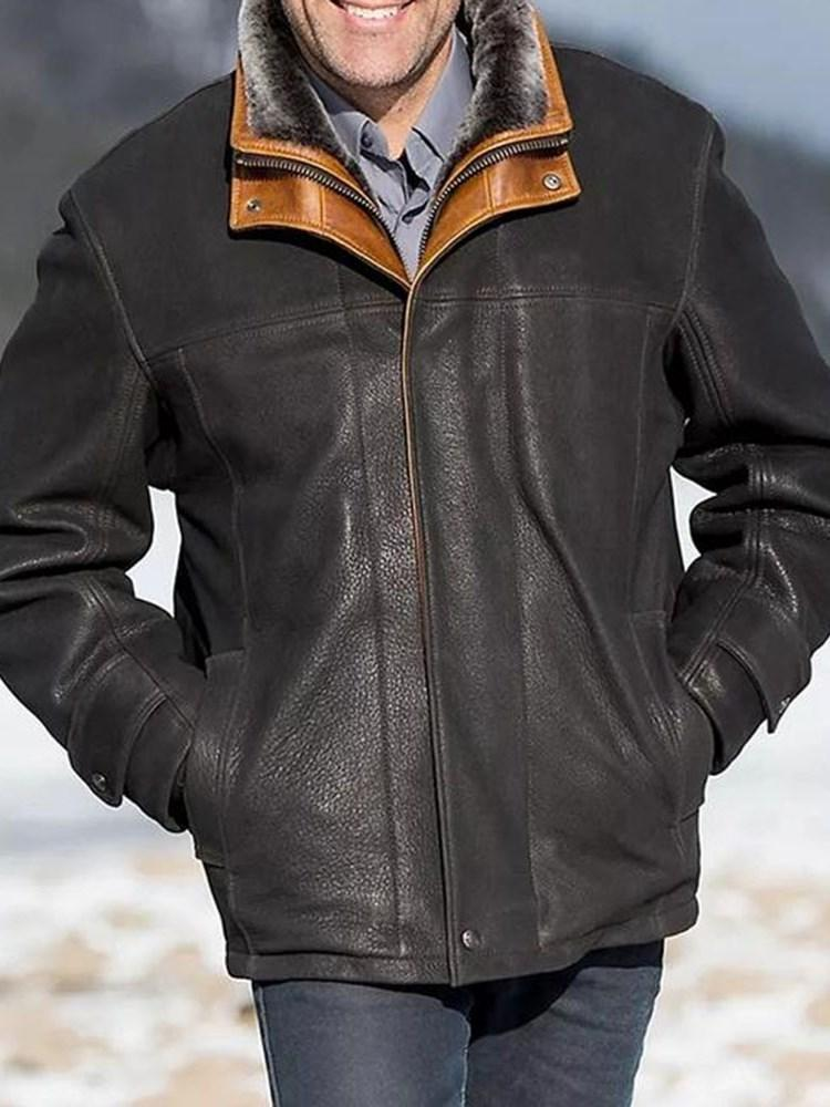 Zipper Stand Collar Fall Casual Jacket