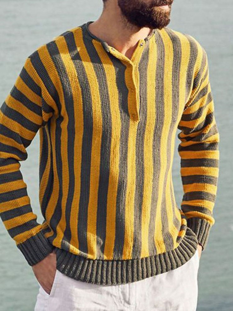 Standard Stripe Slim Casual Sweater
