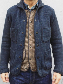 Plain Standard Pocket Winter Loose Sweater