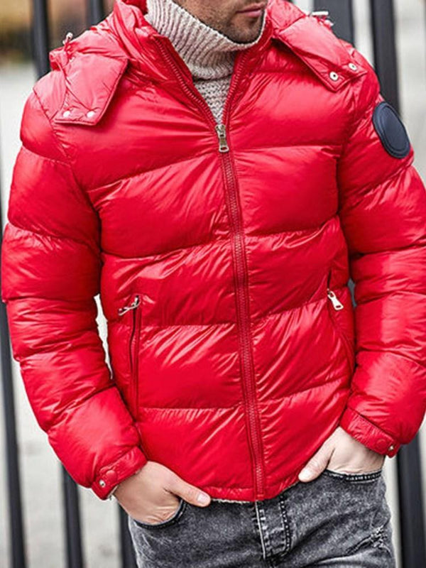 Standard Zipper Casual Zipper Down Jacket
