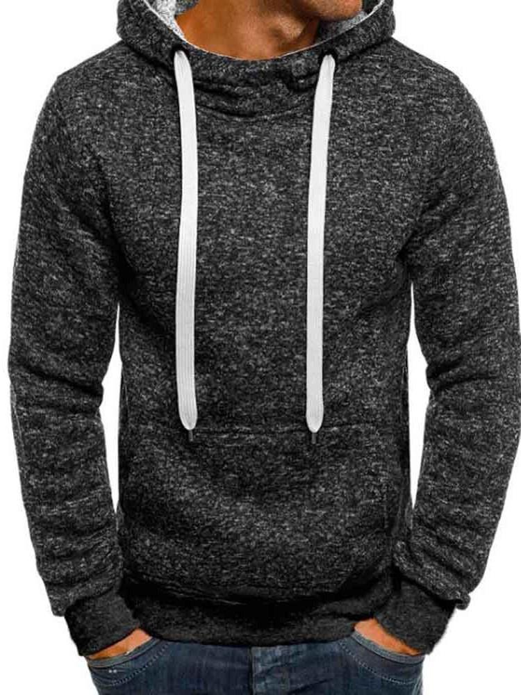 Pullover Plain Winter Casual Hoodies