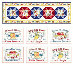 Fruit Stand table runner and placemat