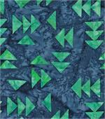 American Quilt Blue Arrows