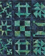 American Quilt Blue and Teal Quilt Block