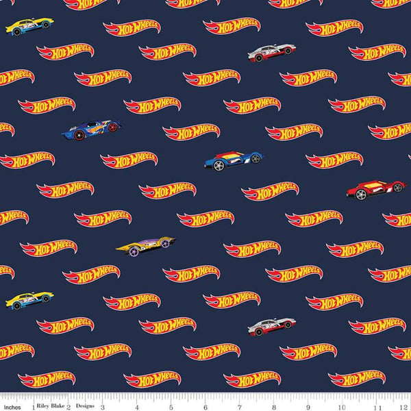Hot Wheels Logo Navy