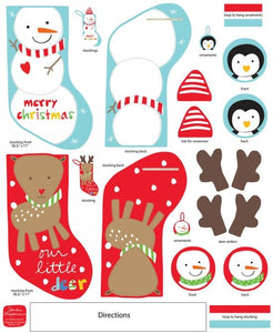 Huggable and Loveable-Snowman & Reindeer Stockings