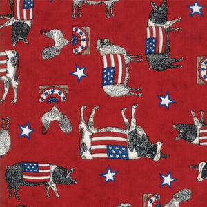 Land That I Love-Red with Patriotic Animals