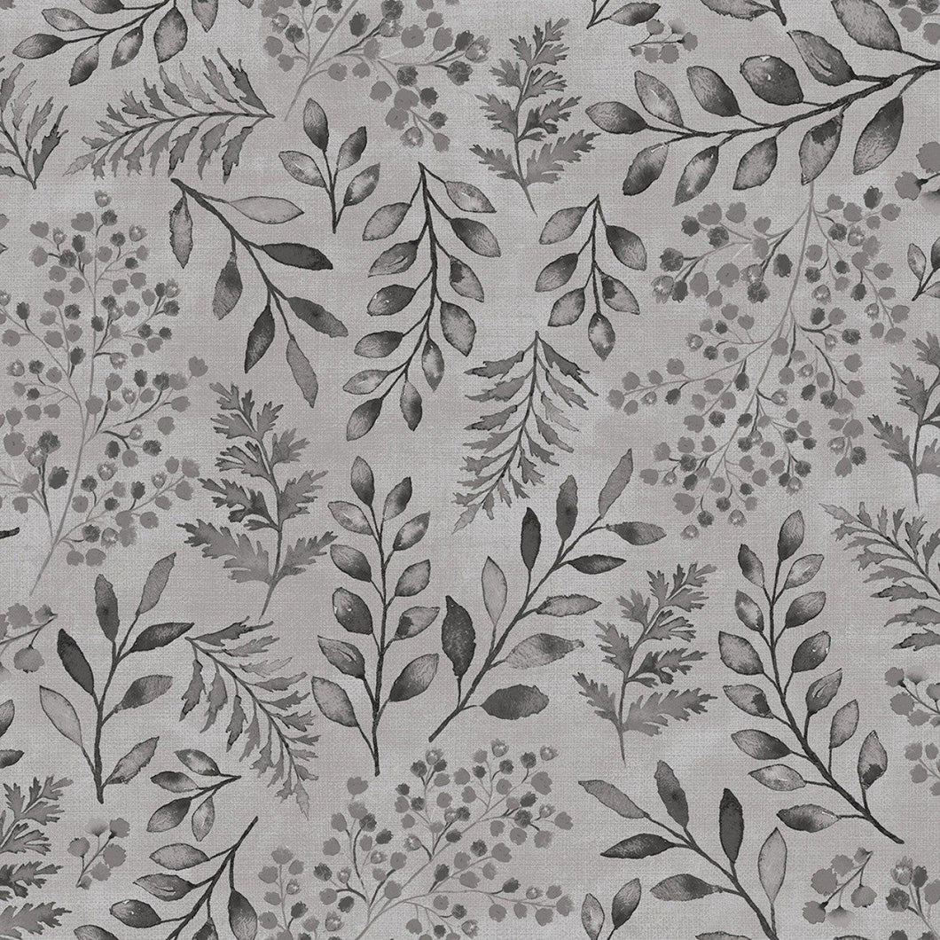 Lilac & Sage - Leaves Graphite