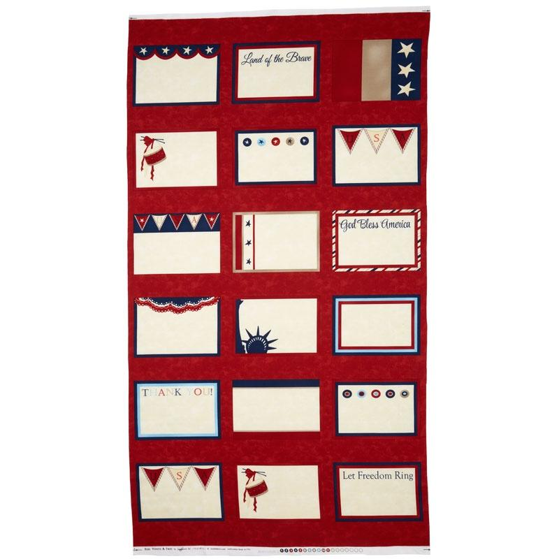 Red, White & Free-Quilt Label Panel
