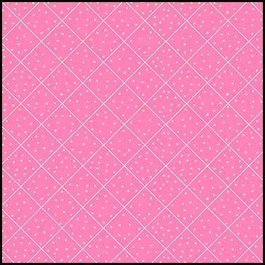 The Quilted Cottage-Dotted Diamond Check, Pink