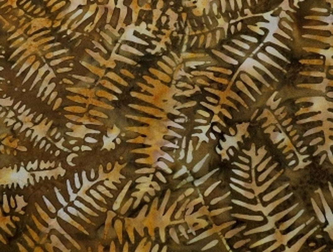 Tonga Batik Brown with Leaves