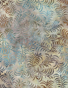 Tonga Batik Opal Small Branches with Leaves