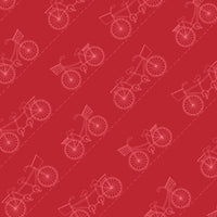 Vintage Boardwalk-Red with Scattered Bikes